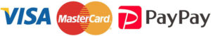 クレジットカード(VISA・MASTER)キャッシュレス(Paypay)対応)