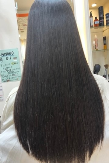MISONO美容室の縮毛矯正の仕上がり例 その17